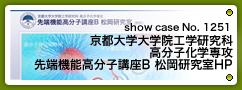 No.1251 京都大学大学院工学研究科 高分子化学専攻  先端機能高分子講座B 松岡研究室