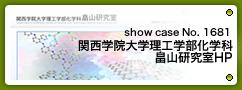 No.1681 関西学院大学理工学部化学科 畠山研究室