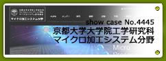 No.4445 京都大学大学院工学研究科マイクロ加工システム分野