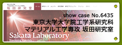 No.6435 東京大学大学院工学系研究科 マテリアル工学専攻 坂田研究室