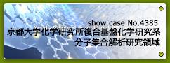 No.4385  京都大学化学研究所 複合基盤化学研究系<br>分子集合解析研究領域(若宮研究室)