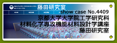 No.4409 京都大学大学院工学研究科材料化学専攻機能材料設計学講座 藤田研究室
